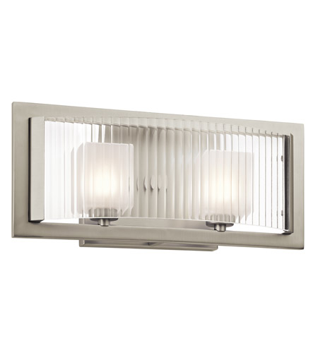 Kichler Rigate 2 Light Wall Mt Bath 2 Arm in Brushed Nickel 45442NI photo