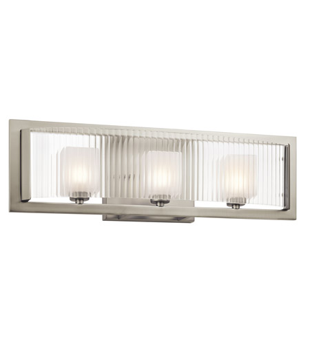 Kichler Rigate 3 Light Wall Mt Bath 3 Arm in Brushed Nickel 45443NI photo