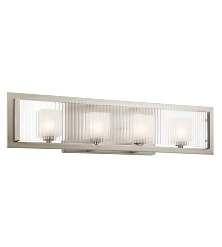 Kichler Rigate 4 Light Wall Mt Bath 4 Arm in Brushed Nickel 45444NI photo