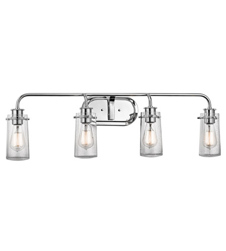Kichler 45460CH Braelyn 4 Light 34 inch Chrome Vanity Light Wall Light photo