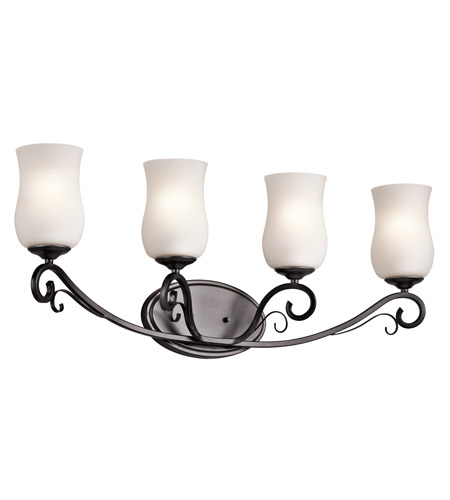 Kichler Kambry 4 Light Wall Mt Bath 4 Arm in Smokey Gray 45468SMG