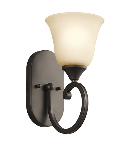 Kichler Lighting Builder Feville 1 Light Wall Sconce in Olde Bronze 45473OZ