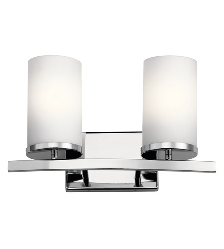 Crosby 2 Light 15 Inch Chrome Vanity Wall