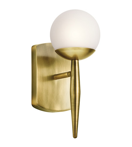 Kichler 45580nbr jasper 1 light 5 inch natural brass wall sconce kichler 45580nbr jasper 1 light 5 inch natural brass wall sconce wall light aloadofball Choice Image