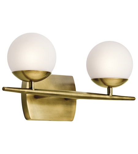 Kichler 45581NBR Jasper 2 Light 17 inch Natural Brass Bath Light Wall Light photo