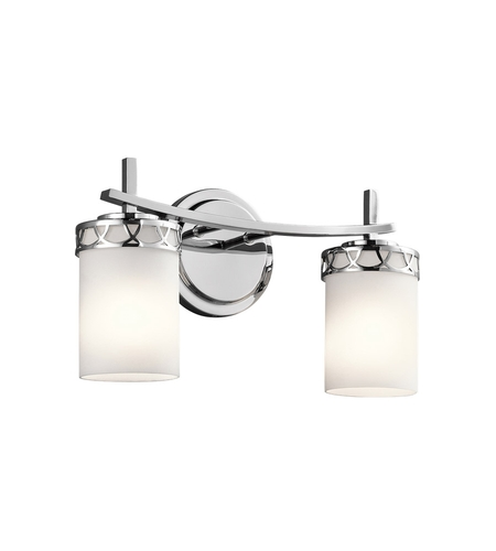 dimmable bathroom lights kichler 45585chl16 marlowe 2 light 16 inch chrome vanity 12688