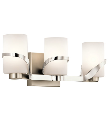 Superior Kichler 45629PN Stelata 3 Light 21 Inch Polished Nickel Bath Light Wall  Light Photo