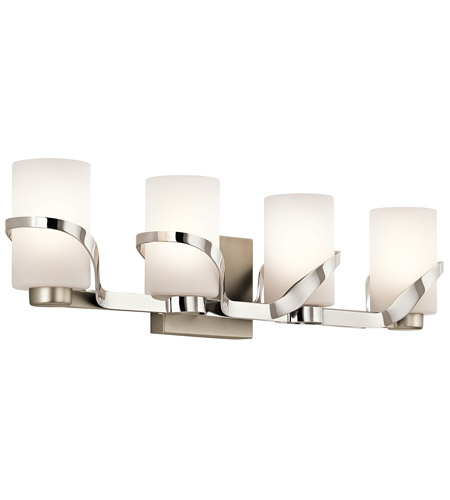 Kichler 45630PN Stelata 4 Light 29 Inch Polished Nickel Bath Light Wall  Light