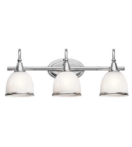 Kichler 45673ch rory 3 light 24 inch chrome vanity light wall light kichler 45673ch rory 3 light 24 inch chrome vanity light wall light in standard photo aloadofball Images