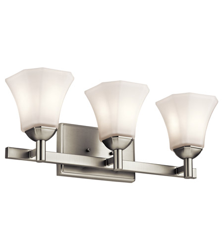 Great Kichler 45733NI Serena 3 Light 23 Inch Brushed Nickel Bath Light Wall Light  Photo