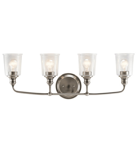 Kichler 45748CLP Waverly 4 Light 33 inch Classic Pewter Vanity Light Wall Light photo