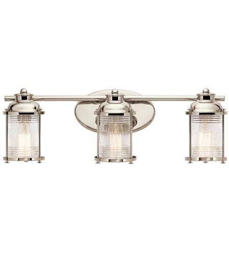 Vanity Lights Polished Nickel : Kichler 45772PN Ashland Bay 3 Light 24 inch Polished Nickel Vanity Light Wall Light