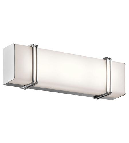 Kichler CHLED Impello LED Inch Chrome Linear Bath Medium - 18 inch bathroom light fixture
