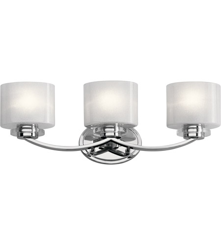 Kichler 45863ch archer 3 light 24 inch chrome vanity light wall kichler 45863ch archer 3 light 24 inch chrome vanity light wall light 3 arm aloadofball Image collections