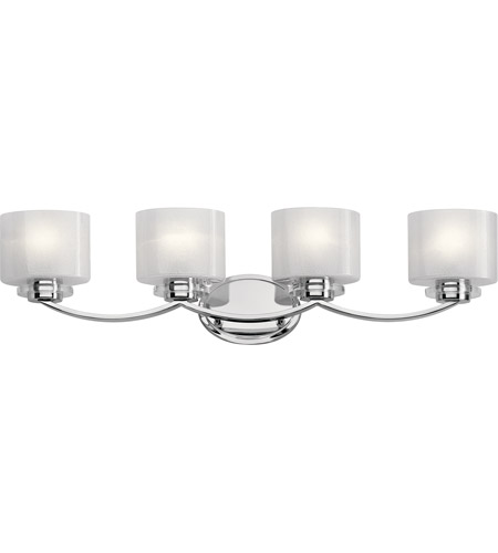 Kichler 45864ch archer 4 light 33 inch chrome vanity light wall kichler 45864ch archer 4 light 33 inch chrome vanity light wall light 4 arm aloadofball Image collections
