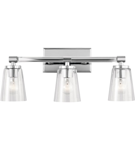 Audrea 3 Light 24 Inch Chrome Vanity Wall Arm