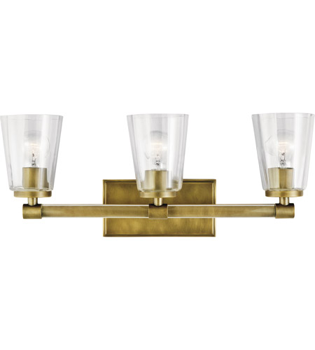 Kichler 45868nbr audrea 3 light 24 inch natural brass vanity light kichler 45868nbr audrea 3 light 24 inch natural brass vanity light wall light 3 arm aloadofball Image collections