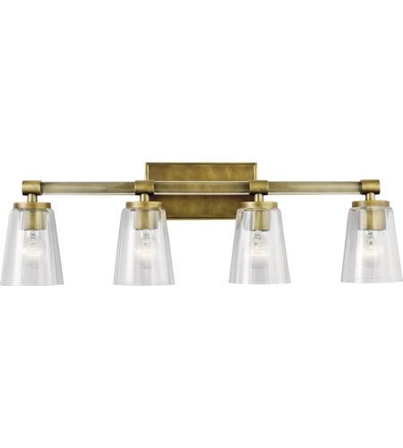 reputable site 3a0e3 c269d Audrea 4 Light 30 inch Natural Brass Vanity Light Wall Light, 4 Arm
