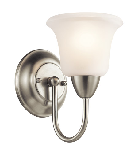 Kichler Lighting Nicholson 1 Light Wall Sconce in Brushed Nickel 45881NI photo