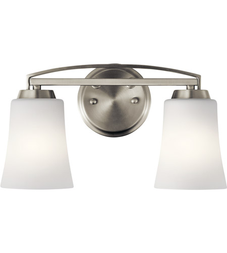 Kichler 45889NI Tao 2 Light 15 Inch Brushed Nickel Vanity Light Wall Light,  2 Arm