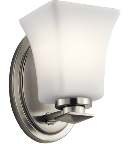 new product 292b0 826ac Clare 1 Light 5 inch Brushed Nickel Wall Bracket Wall Light