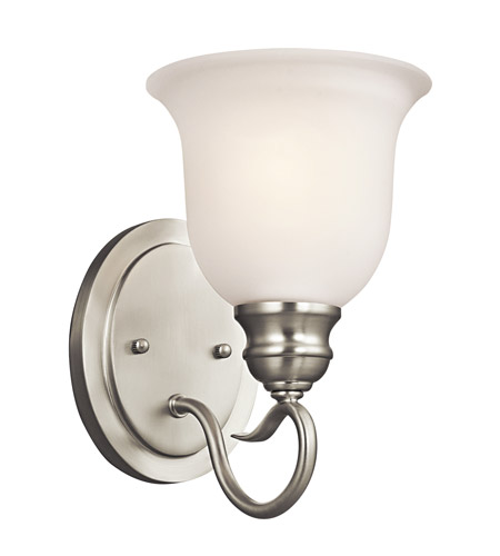 Kichler Lighting Tanglewood 1 Light Bath Vanity in Brushed Nickel 45901NI