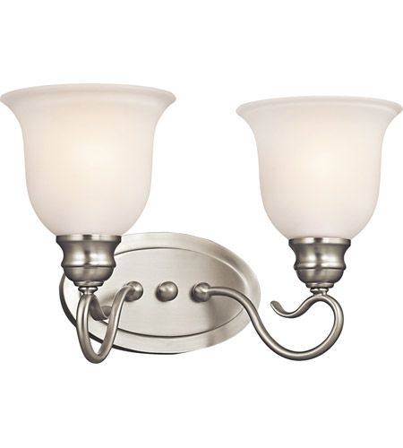 Kichler Lighting Tanglewood 2 Light Bath Vanity in Brushed Nickel 45902NI