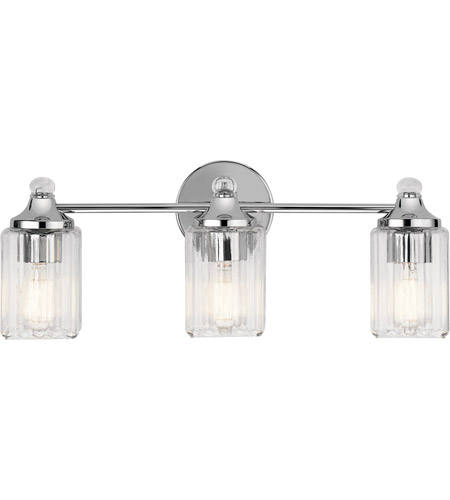 Riviera 3 Light 23 Inch Chrome Vanity Wall Arm
