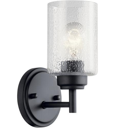 Kichler 45910bk Winslow 1 Light 5 Inch Black Wall Bracket Wall Light