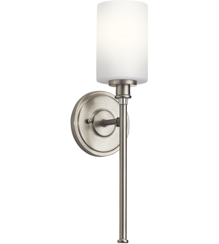 Exceptional Kichler 45921NI Joelson 1 Light 5 Inch Brushed Nickel Wall Sconce Wall Light  In Standard