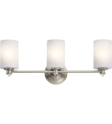 Kichler 45923nil16 joelson 3 light 24 inch brushed nickel vanity kichler 45923nil16 joelson 3 light 24 inch brushed nickel vanity light wall light in led dimmable aloadofball Image collections