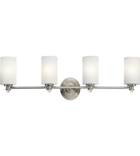 kichler 45924ni joelson 4 light 34 inch brushed nickel vanity light wall light in standard