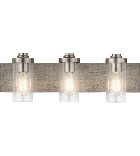 kichler 45928clp dalwood 3 light 24 inch classic pewter vanity light