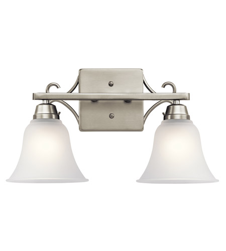 Kichler 45939ni Bixler 2 Light 17 Inch Brushed Nickel