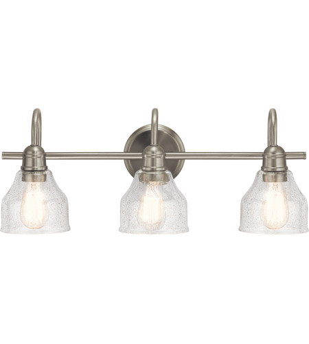 Kichler 45973NI Avery 3 Light 24 inch Brushed Nickel Vanity Light Wall Light, 3 Arm photo thumbnail