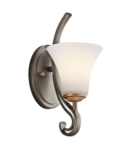 Kichler Lighting Claridge Court 1 Light Wall Sconce in Olde Bronze 45985OZ
