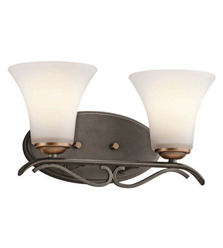 Kichler Lighting Claridge Court 2 Light Bath Vanity in Olde Bronze 45986OZ