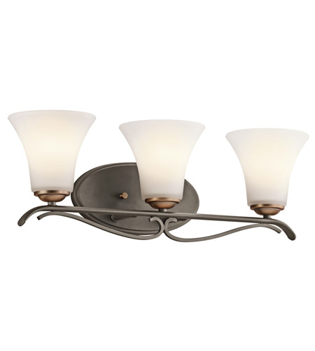 Kichler Lighting Claridge Court 3 Light Bath Vanity in Olde Bronze 45987OZ