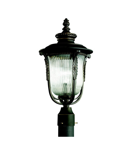 Kichler Lighting Luverne 1 Light Outdoor Post Lantern in Rubbed Bronze 49004RZ