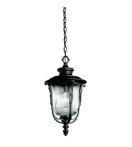Kichler Lighting Luverne 1 Light Outdoor Pendant in Rubbed Bronze 49005RZ photo