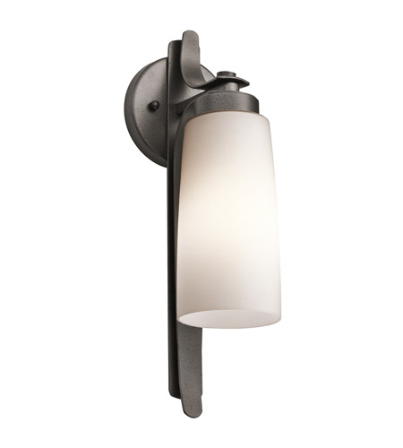 Kichler Lighting Vitalino 1 Light Outdoor Wall Lantern in Anvil Iron 49024AVI