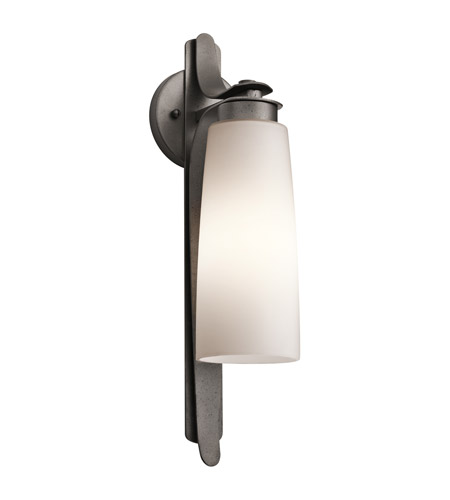 Kichler Lighting Vitalino 1 Light Outdoor Wall Lantern in Anvil Iron 49025AVI