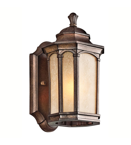 Kichler Lighting Duquesne 1 Light Outdoor Wall Lantern in Brown Stone 49029BST photo