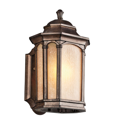Kichler Lighting Duquesne 1 Light Outdoor Wall Lantern in Brown Stone 49030BST photo
