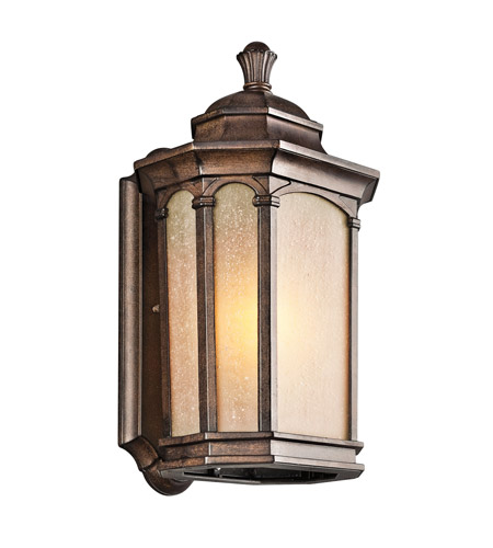 Kichler Lighting Duquesne 1 Light Outdoor Wall Lantern in Brown Stone 49031BST photo