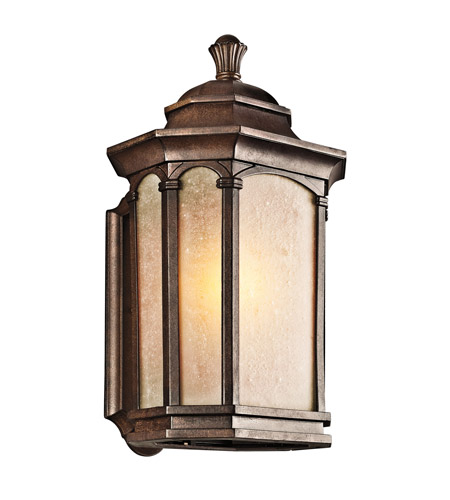 Kichler Lighting Duquesne 1 Light Outdoor Wall Lantern in Brown Stone 49032BST photo
