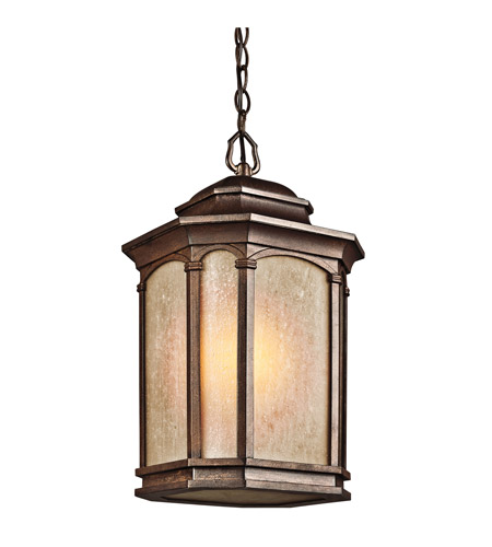 Kichler Lighting Duquesne 1 Light Outdoor Pendant in Brown Stone 49033BST photo