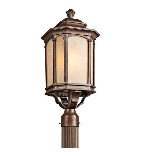 Kichler Lighting Duquesne 1 Light Outdoor Post Lantern in Brown Stone 49034BST