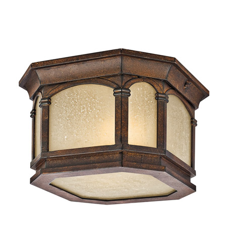Kichler Lighting Duquesne 2 Light Outdoor Flush Mount in Brown Stone 49035BST