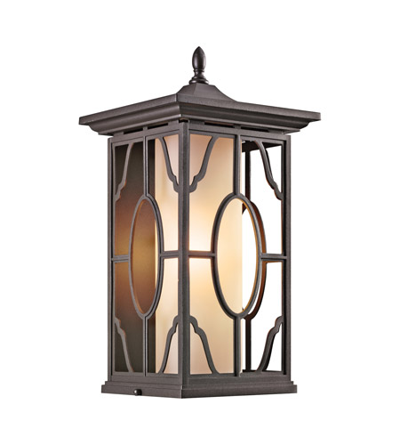 Kichler Lighting Mackenzie 1 Light Outdoor Wall Lantern in Architectural Bronze 49039AZ
